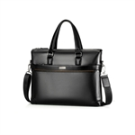 HOTER® Leather Briefcase,PU Leather Shoulder Messenger Bag Laptop