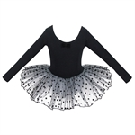 Hoter® Black Swan Long-sleeved Ballet Tutu Dress Size 4-7, Price/Piece