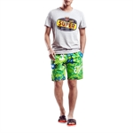 H:oter SunnyBoy Men's Corton Leisure Letter Printing Quick Drying Swim Beach Shorts