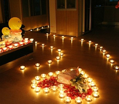 Valentines and propose romantic candle set 70 candles for 100 floors valentines floor 5