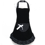 Womens Ladies Fancy Maid Set Apron, Type 1, Bowknot