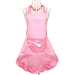 Womens Ladies Fancy Maid Set Apron, Type 4, Bowknot