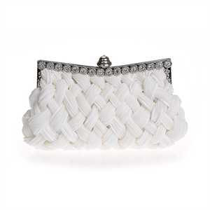 HOTER® Knit-Style Prom & Party Evening Handbag With Crystals, Clutch Bag, Gift Ideas