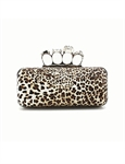 HOTER® Women & Girls Elegance Prom & Party Evening Handbag With Crystal Magic Ring Handle, Clutch Bag, Gift Ideas