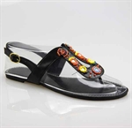 Customerized Toddler & Kid Leatherette Clearance Flat Slingback Sandal, Thong Sandal