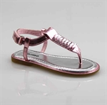 Customerized Toddler & Kid Leatherette Stud Rhinestone Slingback T-Strap Sandal, Thong Sandal