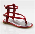 Customerized Toddler & Kid Leatherette Slingback T-Strap Sandal, Thong Sandal