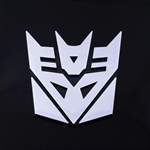Transformers Decepticon 3D Chrome Car Auto Badge Emblem