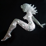 Sexy Girl 3D Chrome Car Auto Badge Emblem