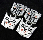 Transformers 3D Chrome Car Auto Badge Emblem (PRICE FOR ONE PIECE)