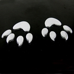 Bear Paw 3D Chrome Car Auto Badge Emblem