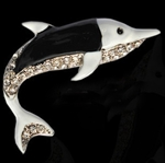 Dolphin 3D Chrome Car Auto Badge Emblem