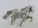 Horse 3D Chrome Car Auto Badge Emblem
