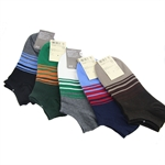 New Designed Striped Low-Cut Cotton Socks, Price/Pair, Size 7-10