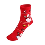 HOTER® Ladies' Snowman Pattern Christmas Socks, Gift Idea!