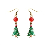 HÖTER Women Alloy Hook Dangle Earrings For Pierced Ears Gift Christmas Tree 2 Pcs/Set