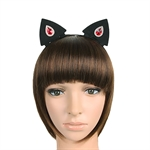 HÖTER Halloween Party Cosplay Accessories Crystal Cat Girl BAT Animal Ear Hair Band Ornaments 2 Pcs