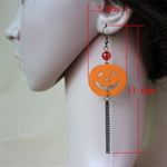 HÖTER Women Pumpkin Halloween Fringed Hook Dangle Earrings For Pierced Ears Gift