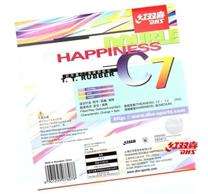 DHS C7 Pips-Long (Out) Table Tennis Rubber, Double Happiness (DHS)