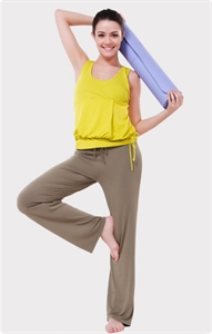 Dmasun Fiber Cotton 2010 New Green Sticky Yoga Clothing, Style G