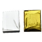 Hoter Emergency Thermal Blankets, 63*82.68 Inches, Silver/Golden