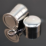 Hoter Collapsible Camping/ Travle Cup, Stainless Steel Whit Keychainl, Price/Piece