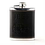 4oz Faux Leather and Stainless Steel Hip Flask, Funnel Set, Gift Idea