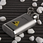 1.5oz Stainless Steel Hip Flask with Key Ring