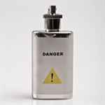Danger Mask 1.5oz Stainless Steel Hip Flask with Key Ring