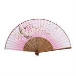 HOTER® Japanese Silk Handheld Folding Fan,Plum Blossom With Butterflies