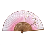 HOTER® Japanese Silk Handheld Folding Fan,Plum Blossom With Jade Hare