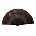 HOTER® Japanese Silk Handheld Folding Fan,Plum Blossom