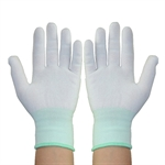 Factory Industry Anti-static Work Nylon Knit Gloves for Finger Protection,Size of S/M/L,12 pairs/set
