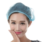 Non-woven Hair Disposable Cap,for Salon,Spa,Food,Electronic Industry,Workshop,Color for White/Blue,100pcs/bag