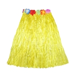 Wholesale Hawaiian Adult Plastic Flowered Grass Skirt, 15-1/2 inch Long Hula Skirt, Assorted Colors, Luau Party supplies