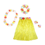 Wholesale Hawaiian Adult Plastic Flowered Grass Skirt, 23-1/2 inch Long Hula Skirt, Assorted Colors, Luau Party supplies