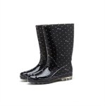 HOTER Latest Fashionable Stylish Glitter Lady High Cylinder Crystal Rain Boots Skidproof/Waterproof Rainy Day/Garden Work/Outdoor Activities