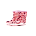 HOTER Latest Fashionable Lovely Cartoon Girls and Boys Glitter Rain Shoes Skidproof/Waterproof Rainy Day/Garden Work/Outdoor Activities