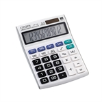 HOTER 12 Digits Standard Function Desktop Dual Power Solar Calculator, AA Battery, Daily Office Business, Gift, White