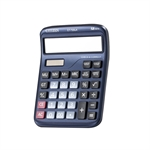 HOTER 12 Digits Flashback Standard Function Desktop Dual Power Solar Calculator, AA Battery, Daily Office Business, Gift, Blue