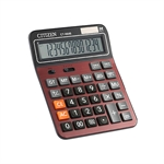 HOTER 12 Digits Large Size Standard Function Desktop Dual Power Solar Calculator, AA Battery, Daily Office Business, Gift, Red and Black