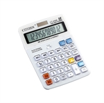 HOTER 12 Digits Large Size Standard Function Desktop Dual Power Calculator, Crystal Button, AA Battery, Daily Office Business, Gift, White