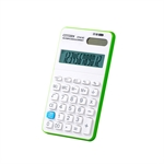 HOTER 12 Digits Handheld Standard Multifunctional Desktop Solar Calculator, Button Battery, Daily Office Business, Gift, Green