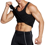 HOTER Mens Slimming Body Shaper Vest Shirt Abs Abdomen Slim, Black