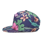 HÖTER Unisex 3D Printed Adjustable Gorgeous Cool Hip Hop Baseball Cap Snapback Flatbrim Hats-Floral