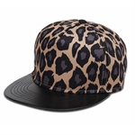 HÖTER Unisex 3D Printed Adjustable Gorgeous Cool Snapback Flatbrim Hats Leopard Hip Hop Baseball Cap
