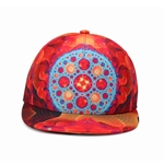 HÖTER Unisex 3D Printed Adjustable Gorgeous Cool Blue Orange Hip Hop Baseball Cap Snapback Flatbrim Hats