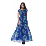 Hoter® Multi-Way Spring and Summer Series New Elegant Large Sizes Chiffon Dress Floral Printing Maxi Dress