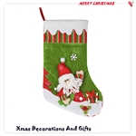 HOTER® 20 inch Handmade Christmas Santa Claus Stocking, Gift Idea