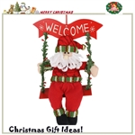 HOTER® 12 inch Handmade Christmas Santa Toys Indoor Decoration, Gift Idea